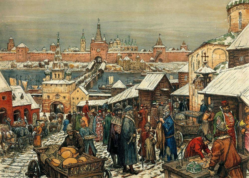 Аполлинарий Михайлович Васнецов. Новгородский торг