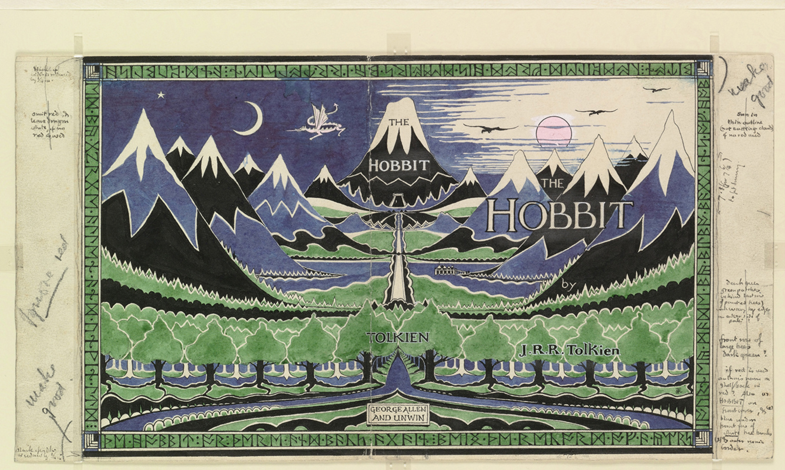 """Джон Рональд Руэл Толкин. Суперобложка книги """"Хоббит, или Туда и обратно"""""""