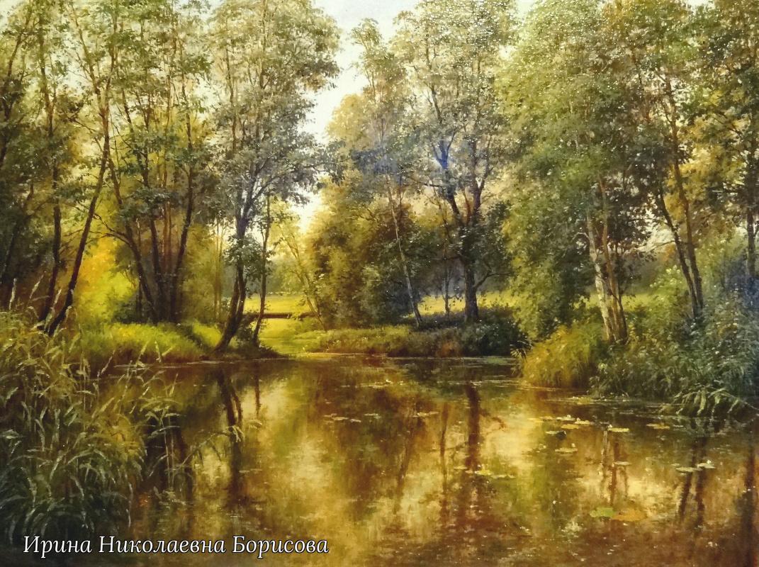 Irina Nikolaevna Borisova. Летний речной пейзаж.