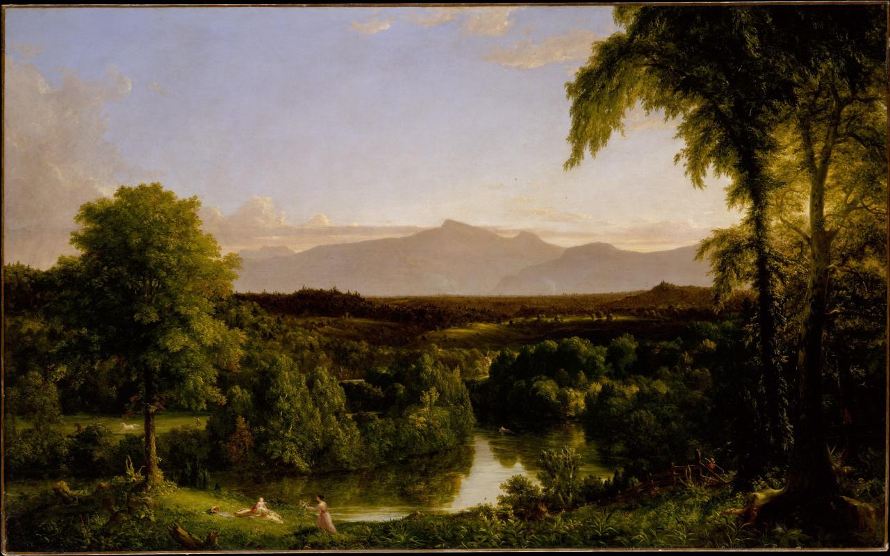Томас Коул. Вид в горах Катскиллс. Начало осени