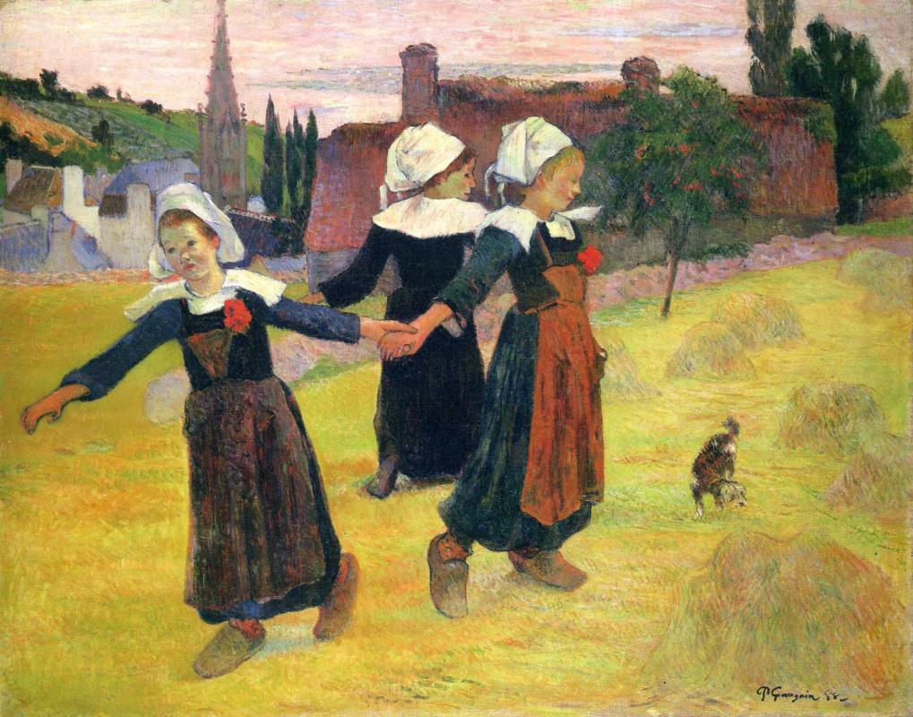 Поль Гоген. Танцующие бретонские девочки