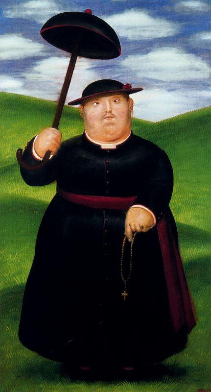 Фернандо Ботеро. Черный зонт