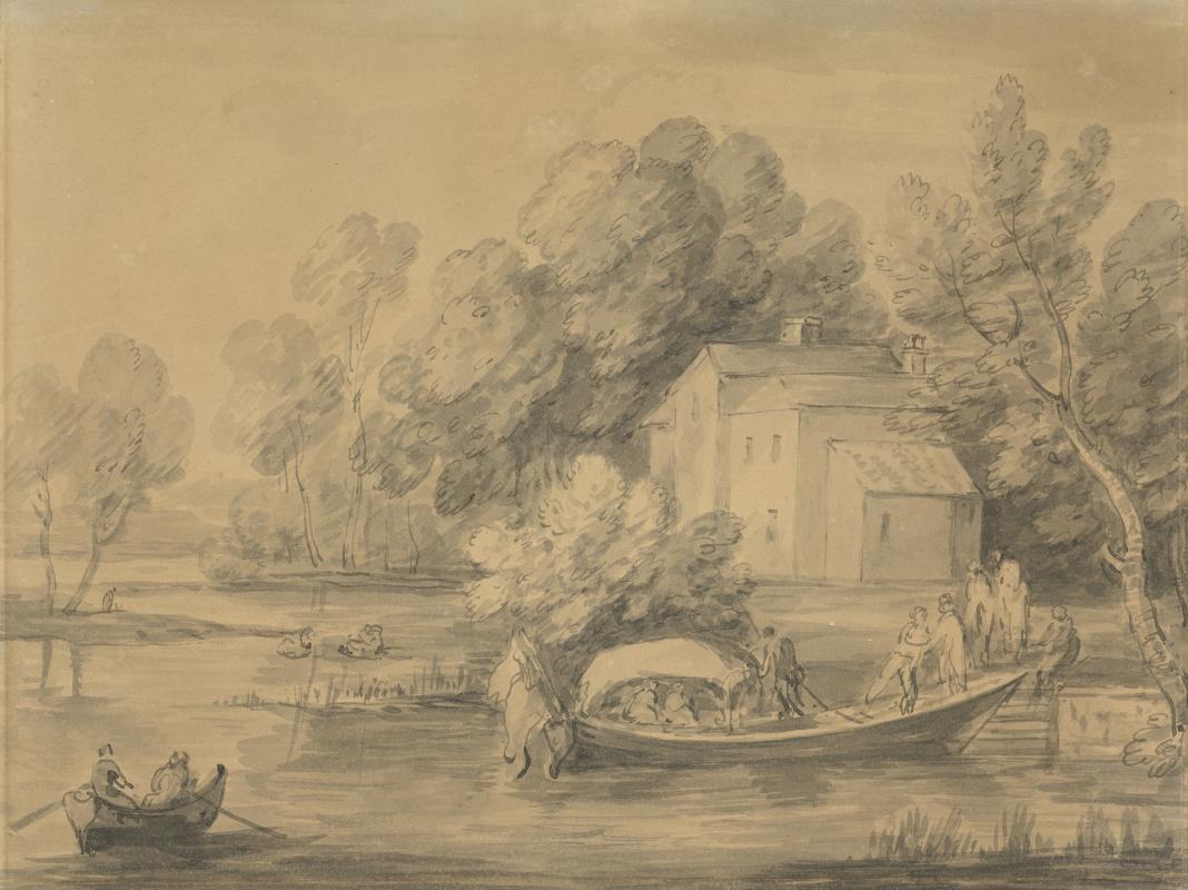 Томас Гейнсборо. Пейзаж с лодками