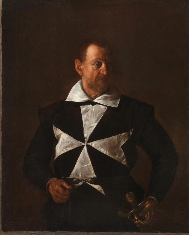 Michelangelo Merisi de Caravaggio. Portrait of a knight of the order of Malta