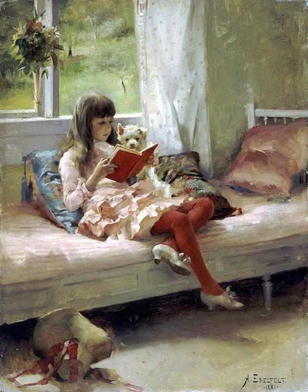 Albert Gustav Aristide Edelfelt. Portrait of the artist's sister Bertha Edelfelt