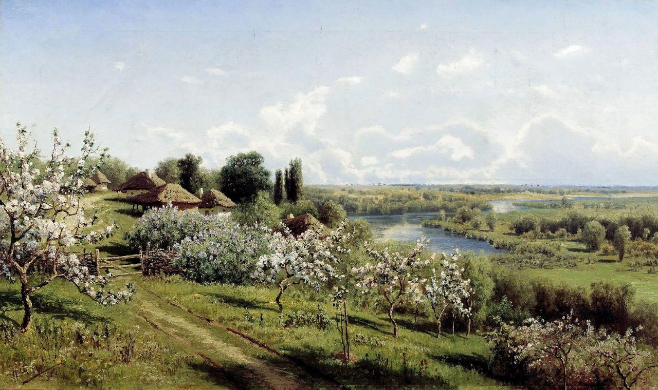 Николай Александрович Сергеев. Яблони в цвету. В Малороссии