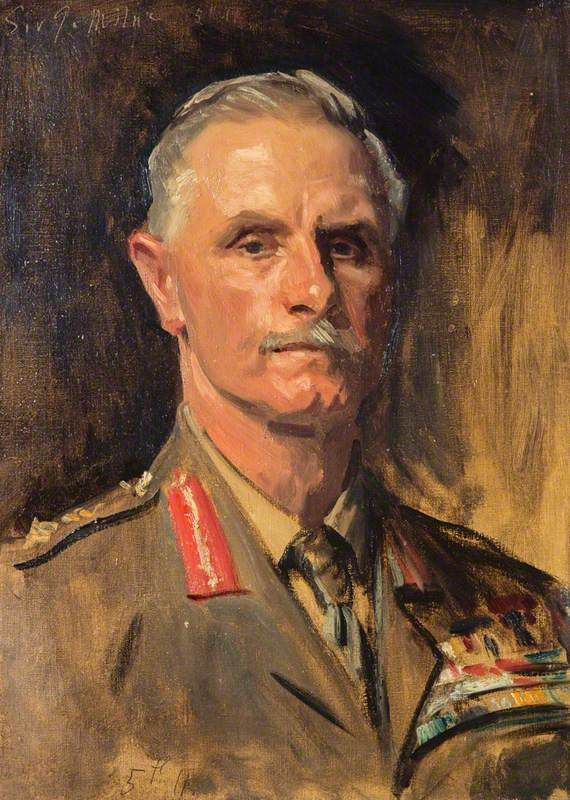 John Singer Sargent. Portrait of George Francis Milne Baron Milne (study for the portrait of the officers of the First world war)