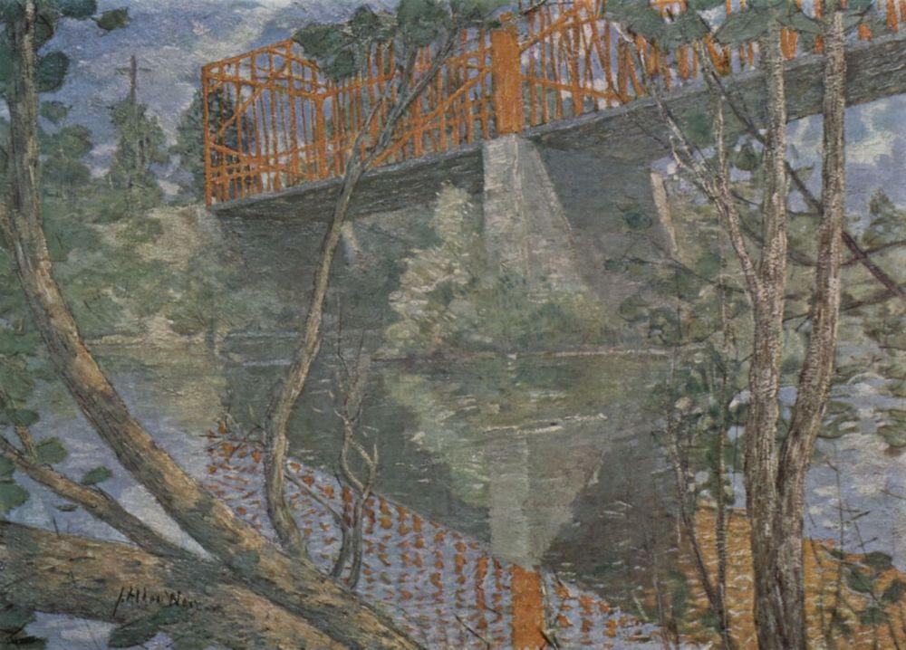 Julian Alden Weir. Red bridge
