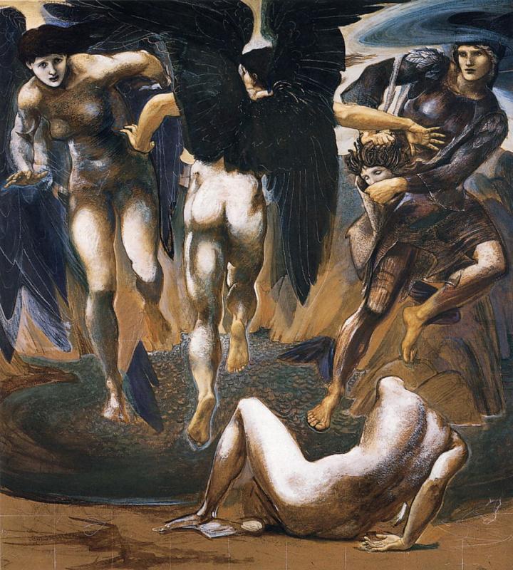 """Эдвард Коли Бёрн-Джонс. Серия """"Персей"""". Смерть Медузы II"""