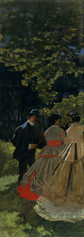 Claude Monet. Luncheon on the Grass, a fragment