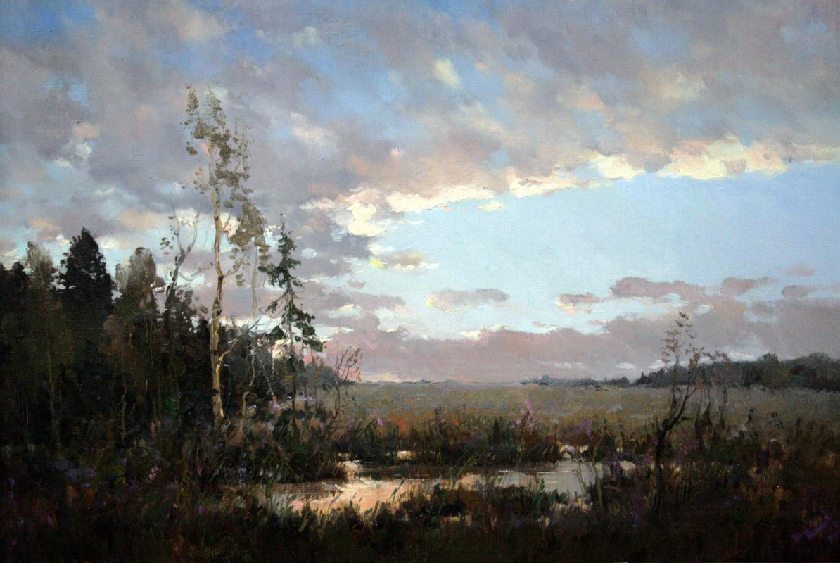 Alexander Markovich Kremer. Sunset in the forest