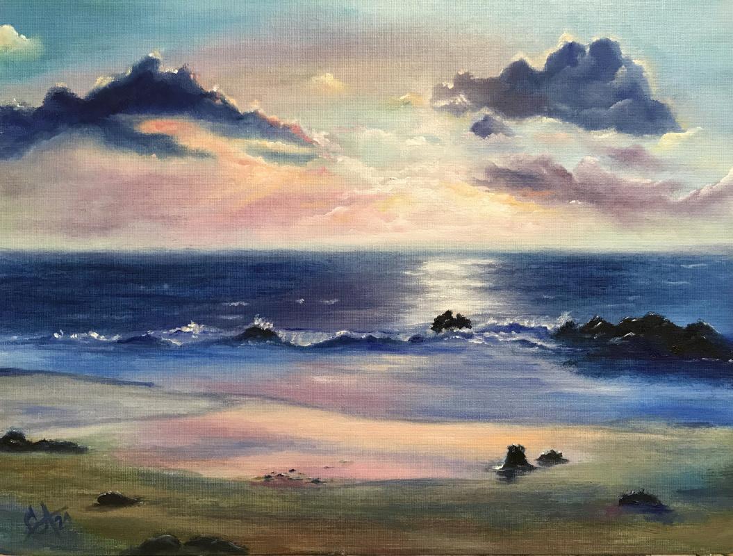Svetlana Arkhipova. Sea at sunset