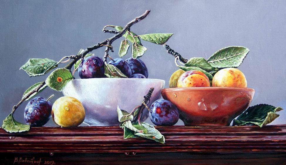 Victor Victorovich Vavejkin. Two varieties of plums