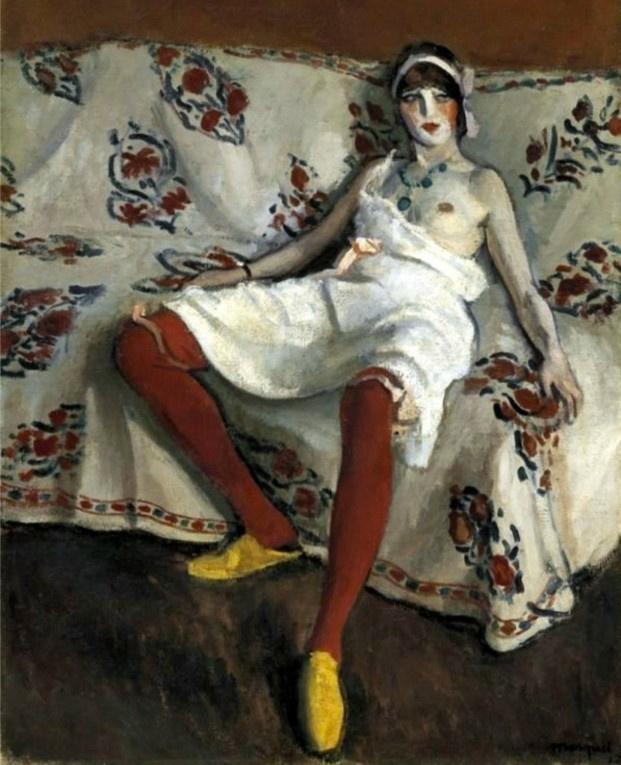 Albert Marquet. Red stockings