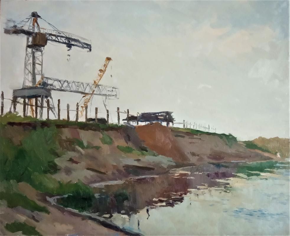 Anna Glazunova. At the edge of the river