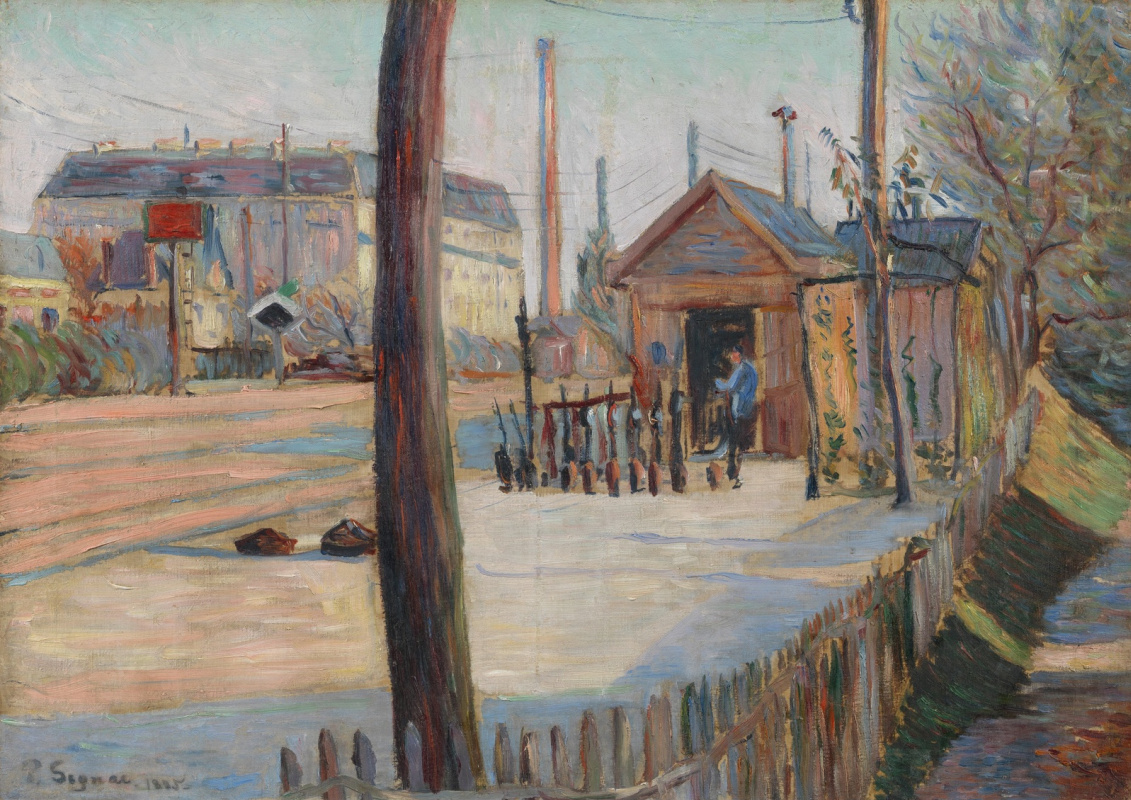 Paul Signac France 1863 - 1935. Railway junction near Bois-Colombe. 1885