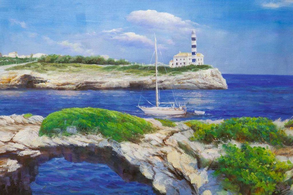 Daria Feliksovna Lagno. Boat trip at the lighthouse