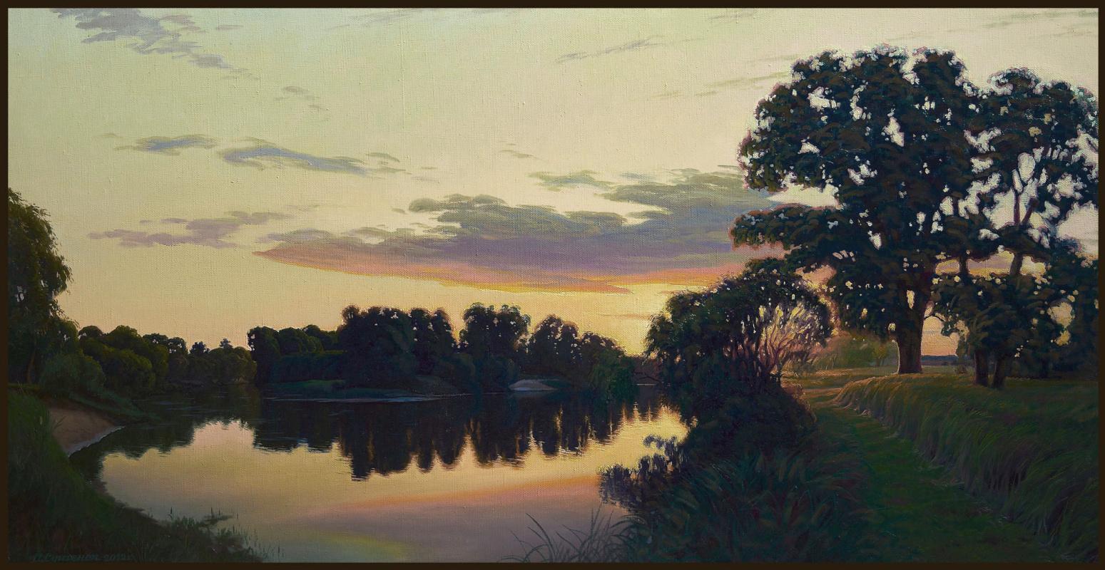 Sushienok64@mail.ru Михайлович Сушенок Игорь. Sunset over the river.