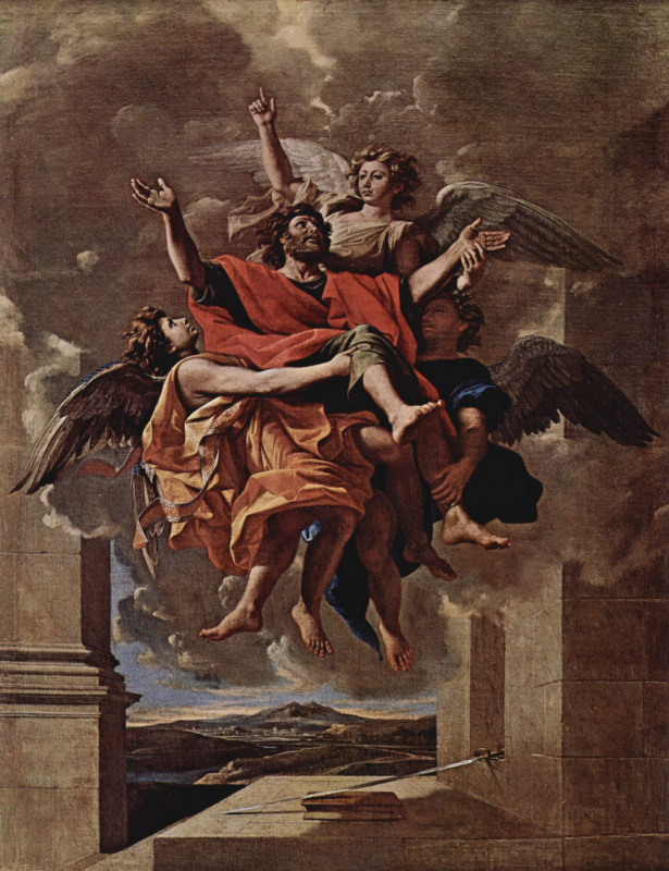 Nicola Poussin. The ecstasy of the Apostle Paul