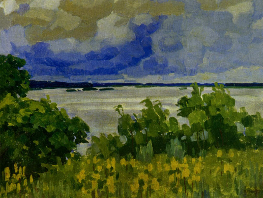 Arkady Alexandrovich Rylov. Clouds over the river