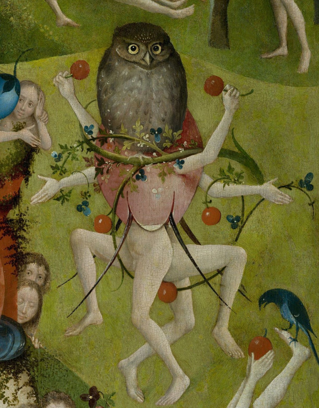 Hieronymus Bosch. The garden of earthly delights. The Central part. Detail