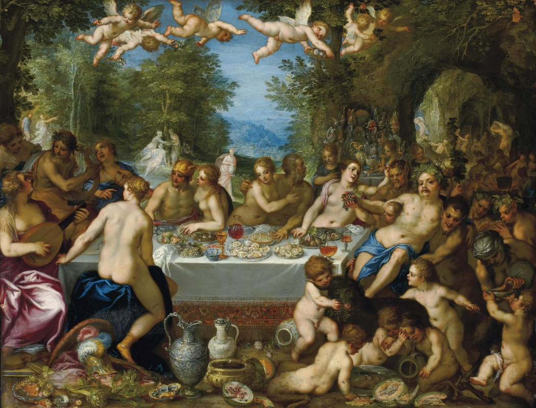 Jan Bruegel The Elder. Feast of the gods, the wedding of Bacchus and Ariadne. (joint with Hans Rottenhammer) About 1602