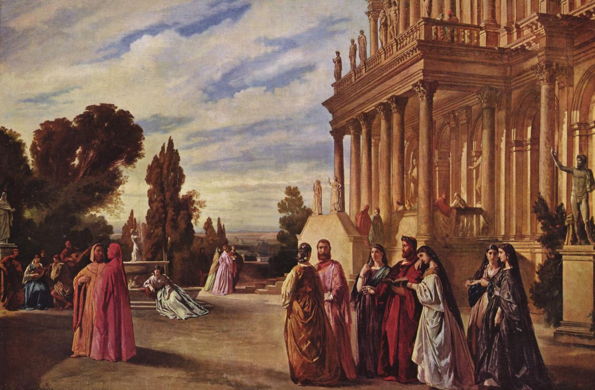 Anselm Frederick Feuerbach. The Garden Of Ariosto