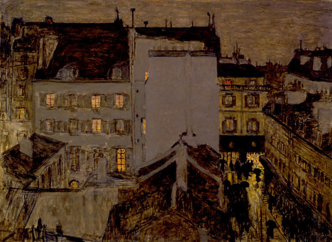 Pierre Bonnard. Montmartre in the rain (Street Tolose)