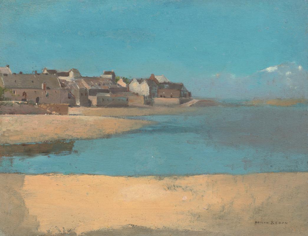 Одилон Редон. Деревня у моря в Бретани