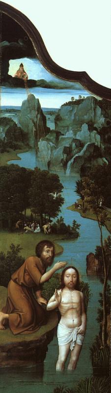 Иоахим Патинир. Крещение (фрагмент)