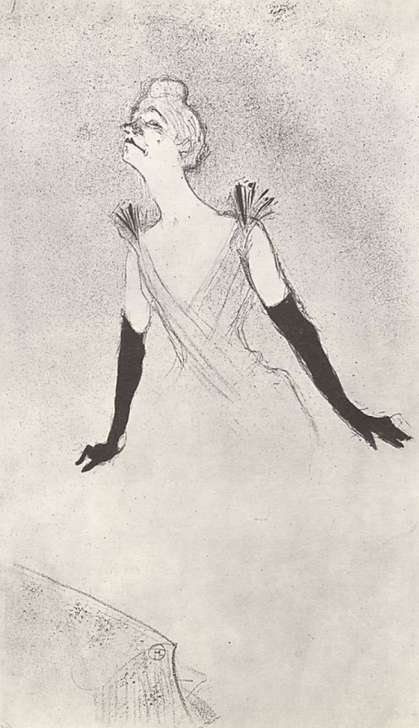 Henri de Toulouse-Lautrec. Illustration for the album Yvette Guilbert