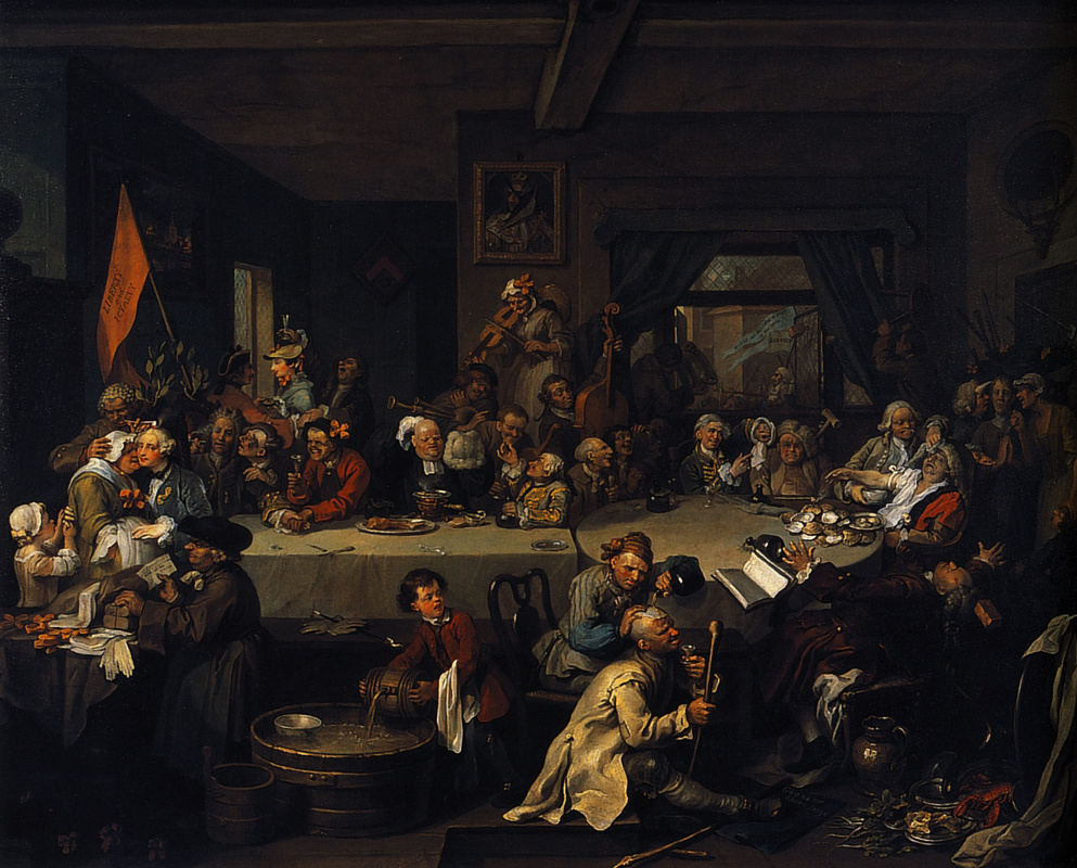 William Hogarth. Elections. Banquet