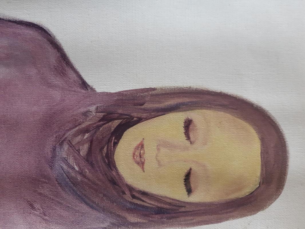 Asya Alibala gizi Hajizadeh. At rest