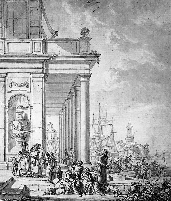 Абрахам ван Стрий. Вид на средиземноморский порт