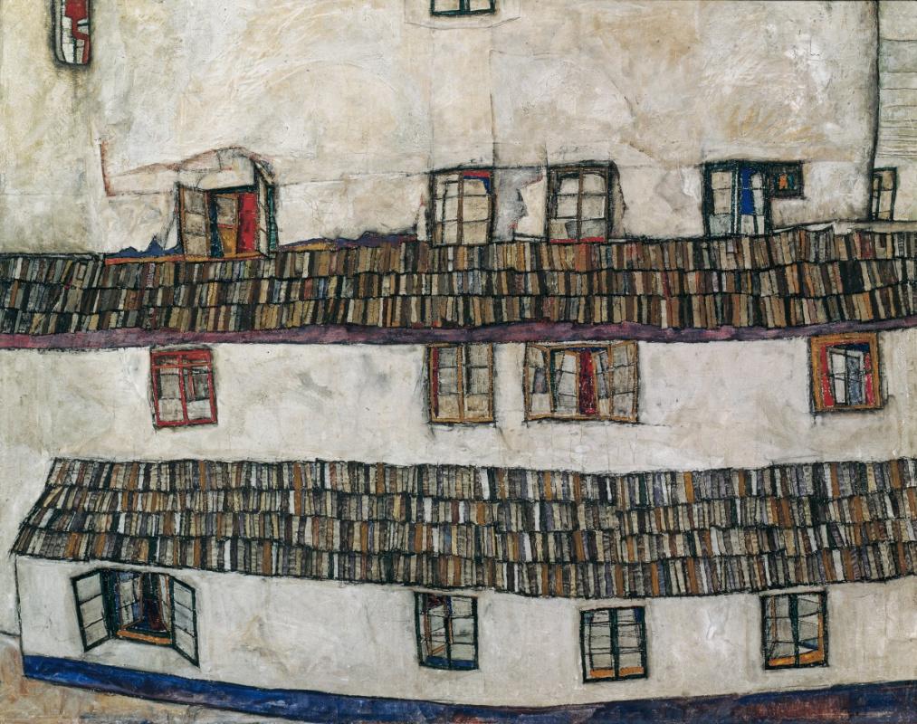 Egon Schiele. The facade of the house (Windows)