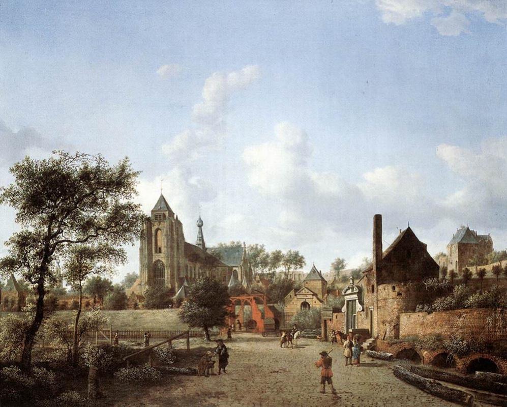 Ян ван дер Хейден. Цветущие деревья