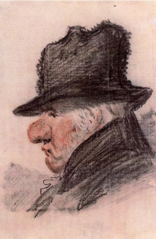 Alexander Osipovich Orel. A caricature of D. Quarenghi