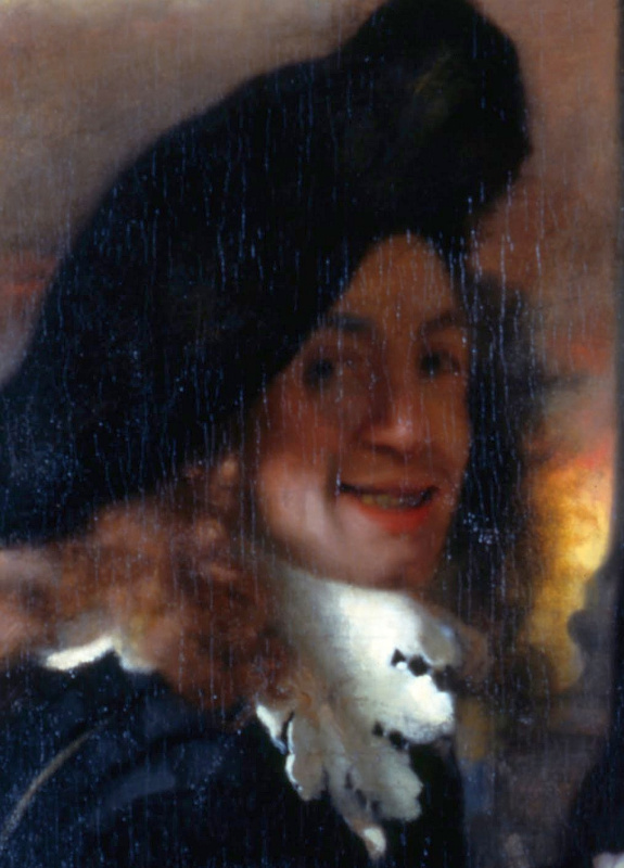 Jan Vermeer. The Procuress. Fragment (a self-portrait of Vermeer?)