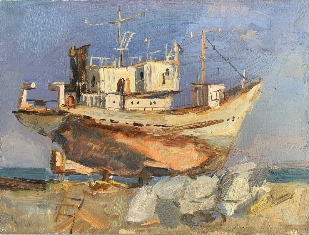 Alena Sukhoborova-Kazarina. Old port. Kerch.
