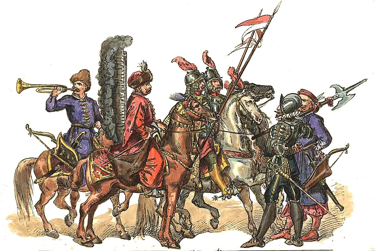 """Ян Матейко. Польские солдаты 1588 - 1632. """"Польская одежда, 1200 - 1795 г.г."""""""