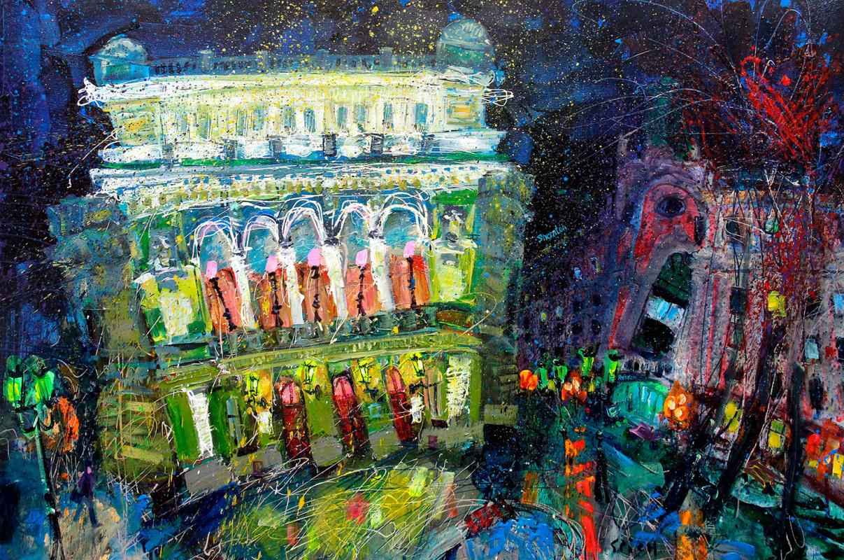 Ilya Pavlovich Spichenkov. Theatre. Winter cover.
