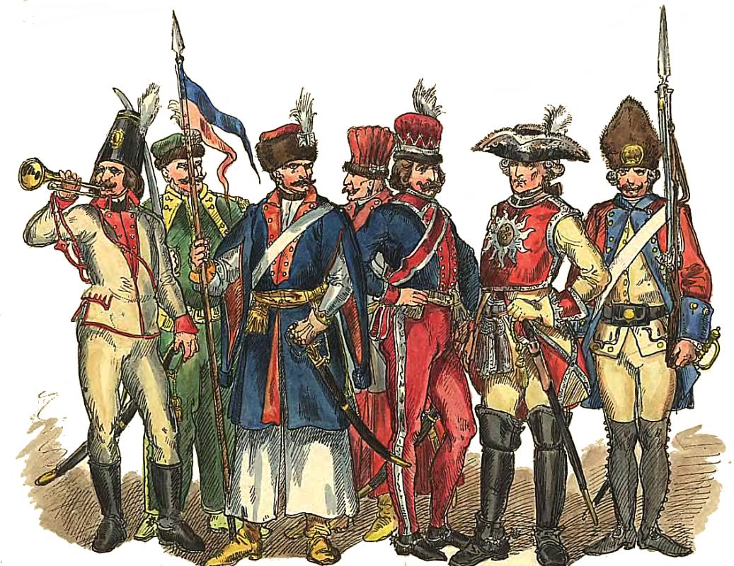 """Ян Матейко. Польские солдаты 1697 - 1795. """"Польская одежда, 1200 - 1795 г.г."""""""