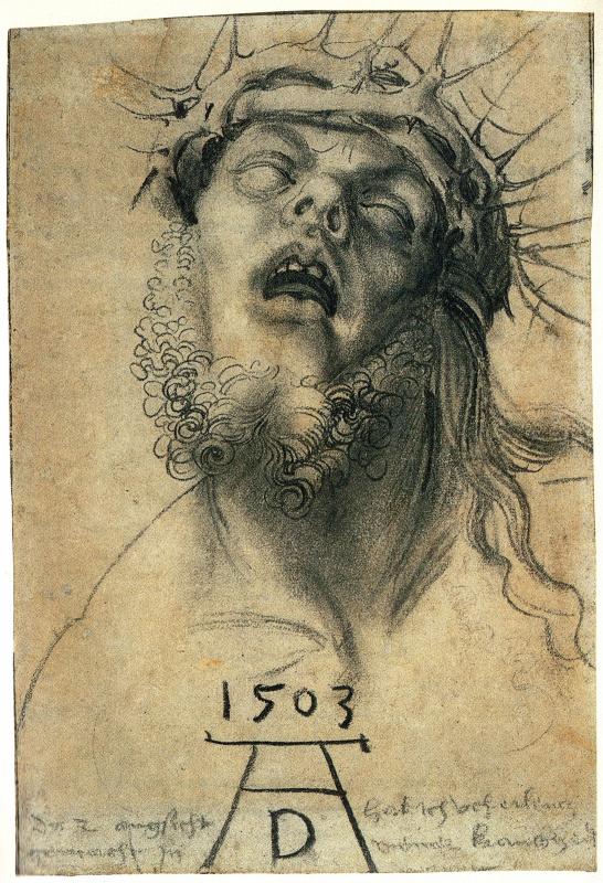 Albrecht Dürer. Christ in crown of thorns
