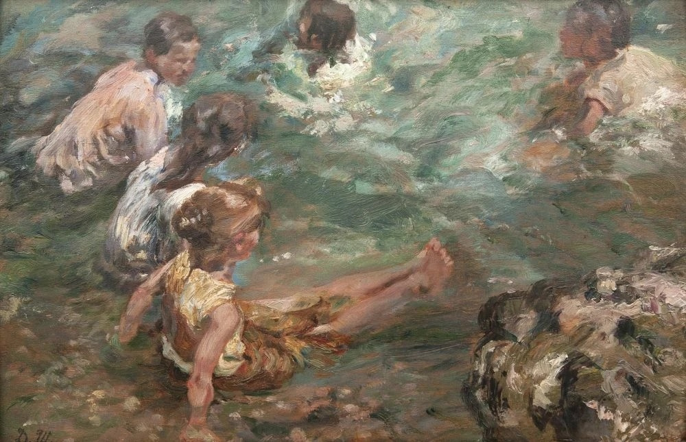 Дамиан Васильевич Шибнев. Bathing children near Mariupol