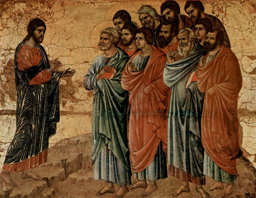 Дуччо ди Буонинсенья. Явление Христа на горе Галилейской