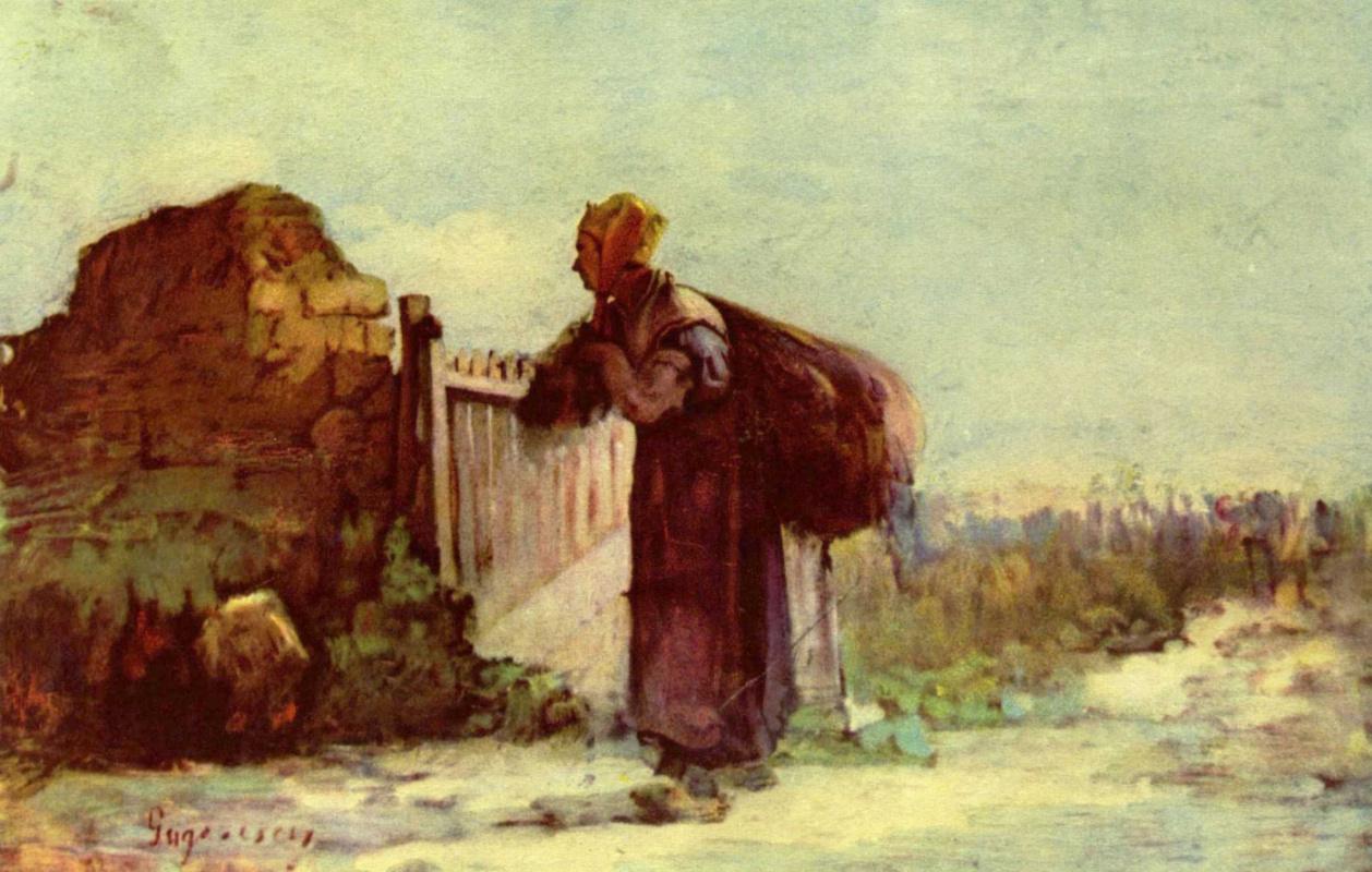 Николае Григореску. Французская крестьянка с мешком за плечами