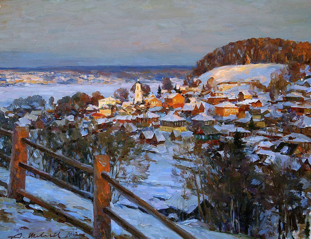 Alexander Shevelyov. Ples .Evening.Oil on canvas 51 # 64,5 cm 2012