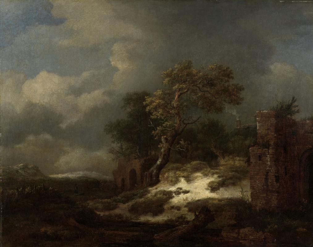Jakob van Isaacs Ruisdael. Landscape with ruins