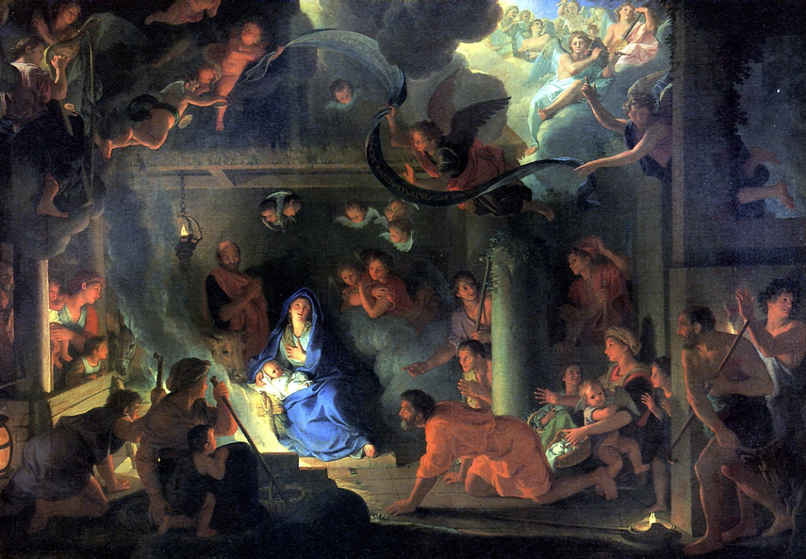 Charles Lebrun. The adoration of the shepherds