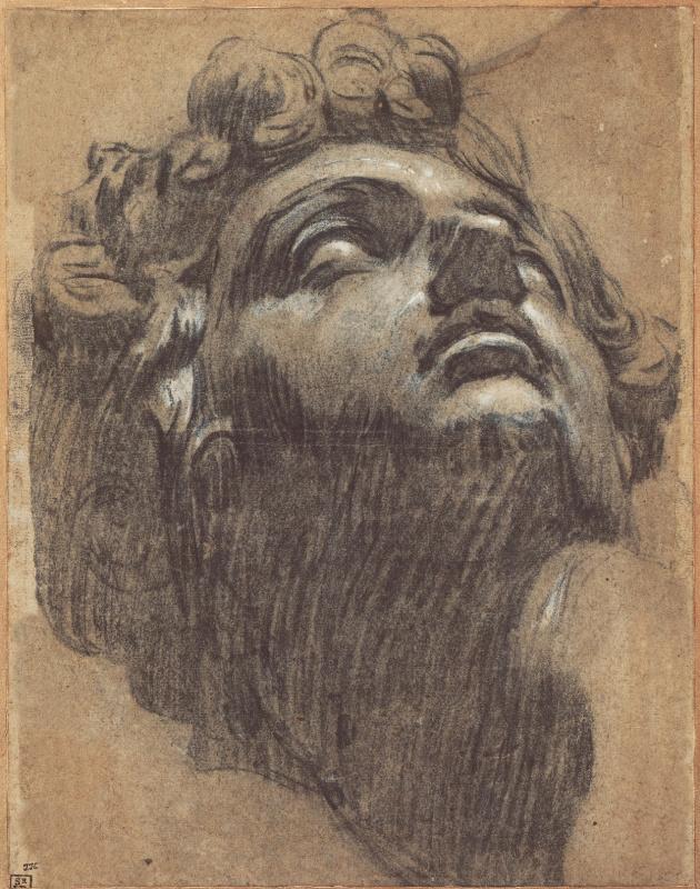Jacopo (Robusti) Tintoretto. The head of Giuliano Medici. Sketch